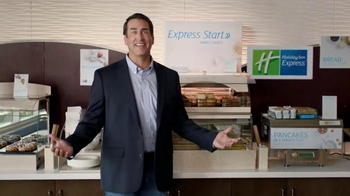 Holiday Inn Express TV Spot, 'Deals Over Bacon' Featuring Rob Riggle - Thumbnail 3