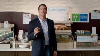 Holiday Inn Express TV Spot, 'Deals Over Bacon' Featuring Rob Riggle - Thumbnail 4