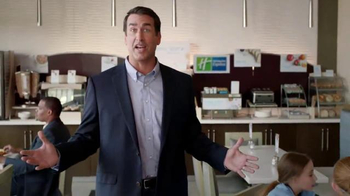 Holiday Inn Express TV Spot, 'Deals Over Bacon' Featuring Rob Riggle - Thumbnail 5