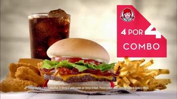 Wendy's 4 for $4 Meal TV Spot, 'Ofertas de sabor' - Thumbnail 3