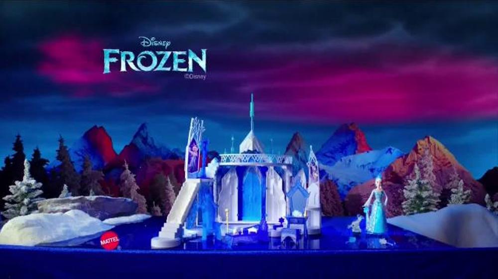 Mattel Disney Frozen Ice Magic Castle And Ice Power Elsa