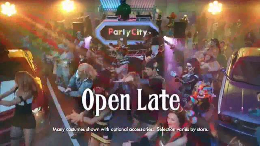 party city tv commercial halloween open late ispottv