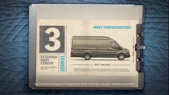 Ford Transit TV Spot, 'Commercial Van Season' - 655 commercial airings