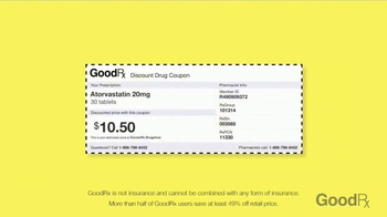 GoodRx TV Spot, 'Easy Way to Save on Prescriptions' - 29907 commercial airings