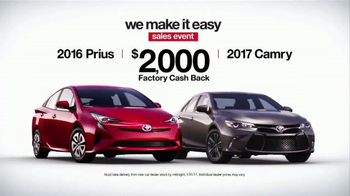 Toyota We Make It Easy Sales Event TV Spot, 'Workout' [T2] - Thumbnail 7