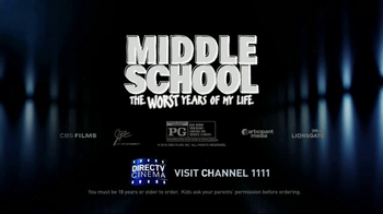 DIRECTV Cinema TV Spot, 'Middle School: The Worst Years of My Life' - Thumbnail 9