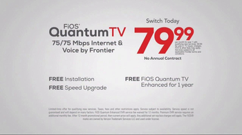 Frontier FiOS Quantum TV TV Spot, 'Personalized Entertainment' - Thumbnail 6