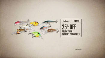 Cabela's Spring Great Outdoor Days Sale TV Spot, 'Crankbaits' - Thumbnail 5