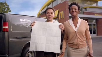 McDonald's Quarter Pounder Burgers TV Spot, 'Napkins International' - 3 commercial airings