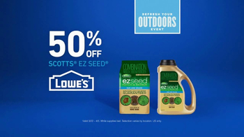 Lowe's Refresh Your Outdoors Event TV Spot, 'The Moment: Scotts EZ Seed' - Thumbnail 9