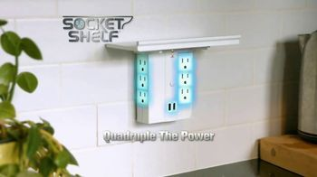 Socket Shelf TV Spot, 'Power Docking Station'