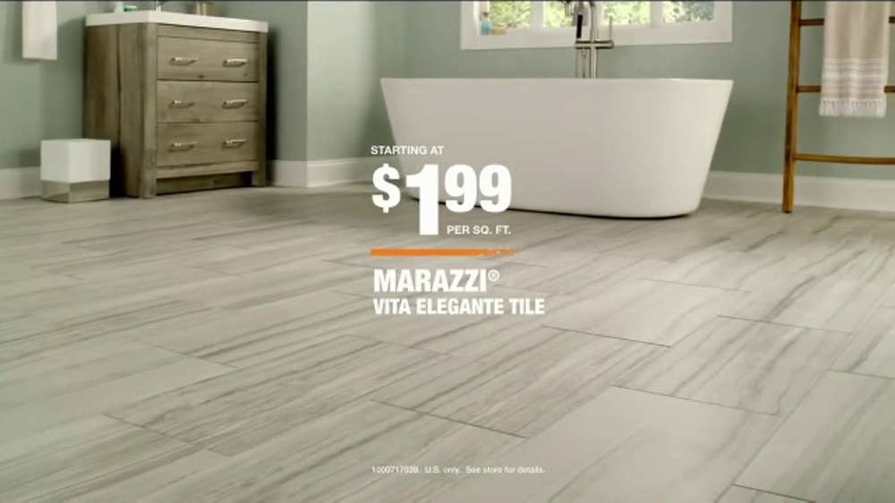 The Home Depot TV Commercial, \'Marazzi Vita Elegante Tile\' - iSpot.tv