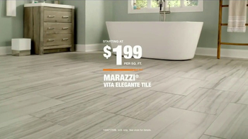 The Home Depot TV Spot, 'Marazzi Vita Elegante Tile'