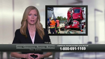 SGPB Law TV Spot, 'Commercial Trucking Accident' - Thumbnail 2