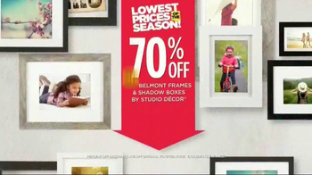 Michaels Lowest Prices of the Season Sale TV Spot, 'Huge Selections' - Thumbnail 2