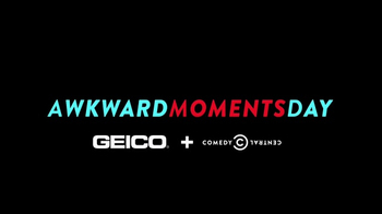 GEICO TV Spot, 'Comedy Central: Awkward Moments Day' - Thumbnail 1