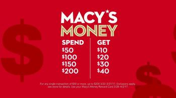 Macy's TV Spot, 'Macy's Money: Cash In' - Thumbnail 3