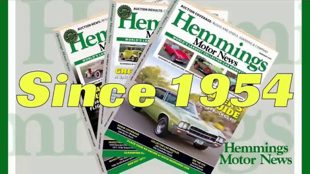 Hemmings Motor News TV Commercial, \'Collector Vehicle Authority ...