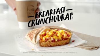Taco Bell Breakfast Crunchwrap TV Spot, 'Morning Bliss' - Thumbnail 7