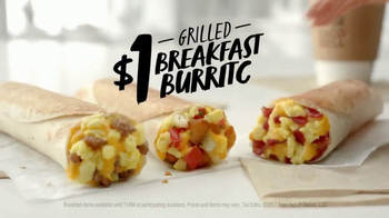 Taco Bell $1 Grilled Breakfast Burrito TV Spot, 'Late Morning' - Thumbnail 8