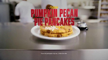 Denny's Pumpkin Pecan Pie Pancakes TV Spot, 'Autumn Alliteration' - Thumbnail 9
