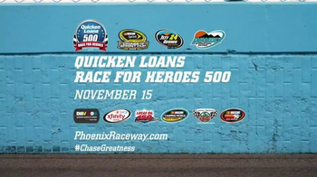 Phoenix International Raceway TV Spot, 'Quicken Loans Race for Heroes 500'