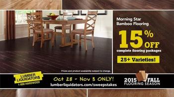 Lumber Liquidators TV Spot, '2015 Fall Flooring Season: Beautiful Floor' - Thumbnail 6