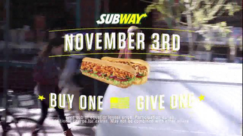 Subway National Sandwich Day TV Spot, 'Buy One, Give One' - Thumbnail 8