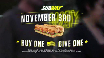 Subway National Sandwich Day TV Spot, 'Buy One, Give One' - Thumbnail 1