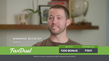 FanDuel One-Week Fantasy Football Leagues TV Spot, 'Scott' - Thumbnail 5