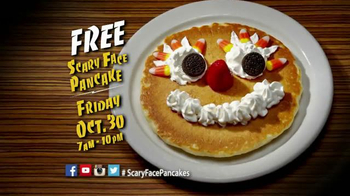 IHOP Free Scary Face Pancake TV Spot, 'Halloween' - Thumbnail 4
