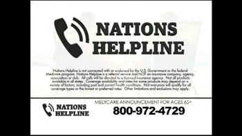 Nations Helpline TV Spot, 'Medicare Supplement Insurance' - Thumbnail 6