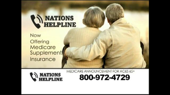 Nations Helpline TV Spot, 'Medicare Supplement Insurance' - Thumbnail 2