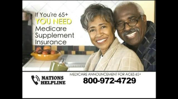 Nations Helpline TV Spot, 'Medicare Supplement Insurance' - Thumbnail 3