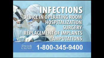 Davis & Crump, P.C. TV Spot, 'Replacement Infections'