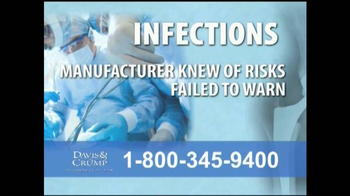 Davis & Crump, P.C. TV Spot, 'Replacement Infections' - Thumbnail 4