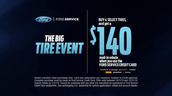 Ford Service The Big Tire Event TV Spot, 'Specialists: Ready to Roll' - Thumbnail 5