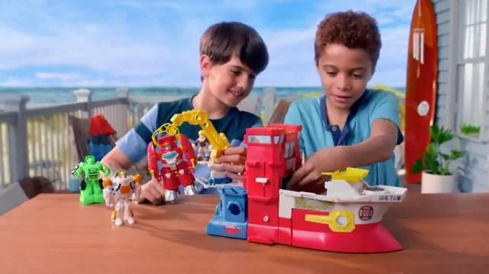 Transformers Rescue Bots High Tide Rescue Rig TV Commercial, 'Save the Day'