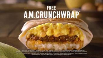 Taco Bell A.M. Crunchwrap TV Spot, 'Lorenzo Cain' - Thumbnail 8