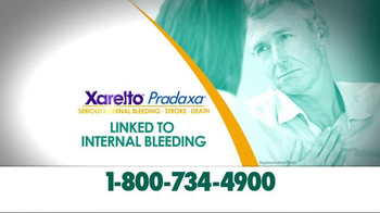 Crumley Roberts TV Spot, 'Xarelto Warning: Serious Bleeding' - Thumbnail 5