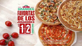 Papa John's Grandes Favoritas de los Jugadores TV Spot, 'Pizzas' [Spanish] - Thumbnail 5