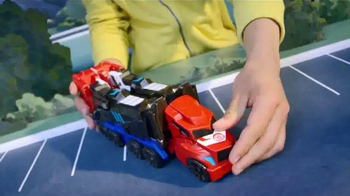 Transformers Robots in Disguise Mega Optimus Prime TV Spot, 'Converts Fast' - Thumbnail 6