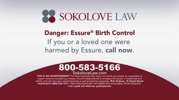 Sokolove Law TV Spot, 'Essure Birth Control' - Thumbnail 10