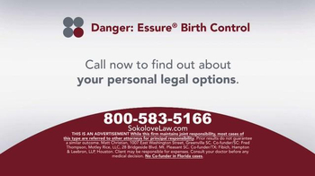 Sokolove Law TV Spot, 'Essure Birth Control' - Thumbnail 7
