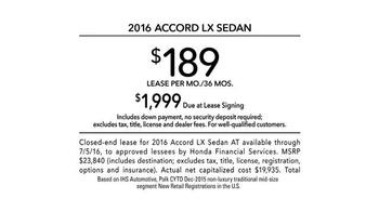 2016 Honda Accord LX TV Spot, 'Today's Hectic World' - Thumbnail 9