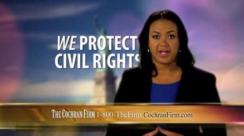 The Cochran Law Firm TV Spot, 'Civil Rights' - Thumbnail 5