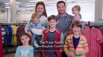 Burlington Coat Factory TV Spot, 'The Pryor Family'