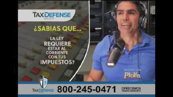 The Tax Defense Group TV Spot, 'En vivo' con Piolín [Spanish]