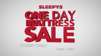 Sleepy\'s One Day Mattress Sale TV Spot, \'Queen Sets and Boxspring\'