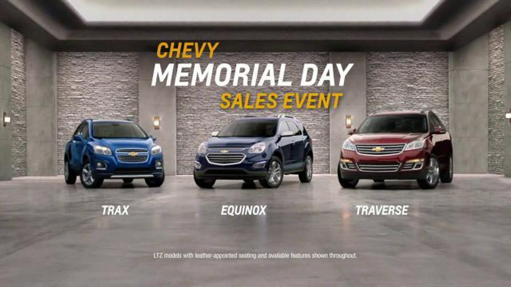 chevrolet memorial day sales event tv commercial 39 crossover deals 39. Black Bedroom Furniture Sets. Home Design Ideas
